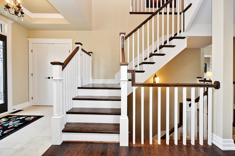 Beautiful stair railings interior design ideas Inside staircase in houses