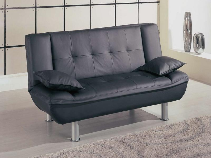 Black Leather Loveseats for Small Spaces
