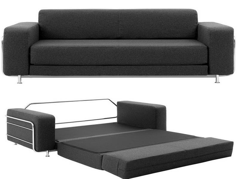 Black Sofa Bed For Small Living Room Design EVA Furniture - Modern sofas for small spaces