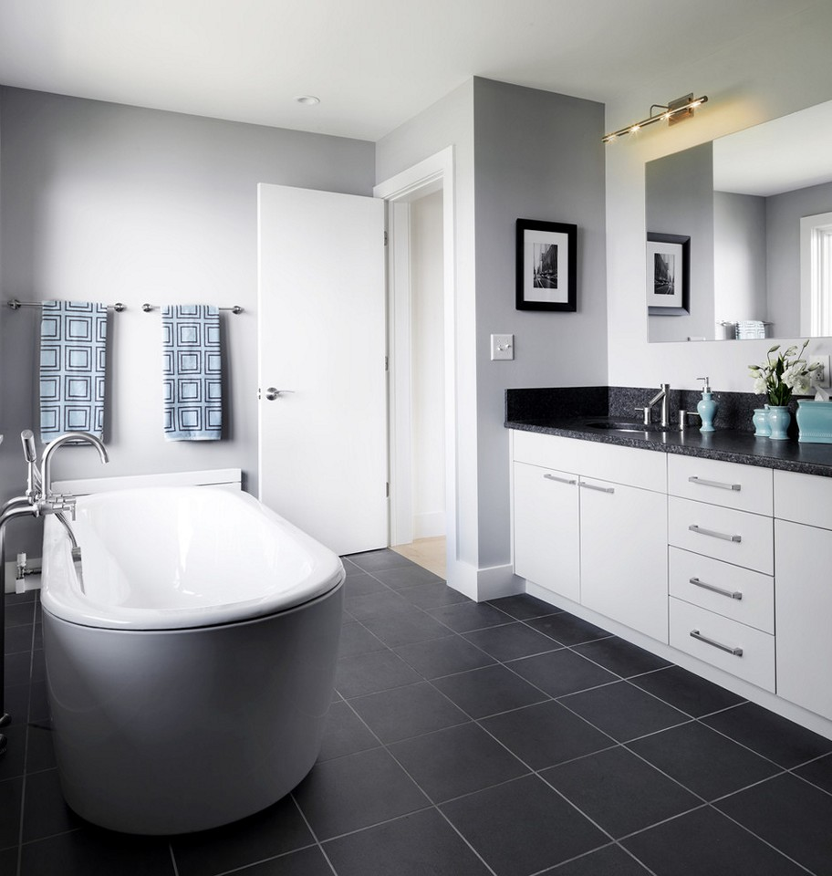 Black and White Bathroom Wall Tile Design Ideas | EVA Furniture