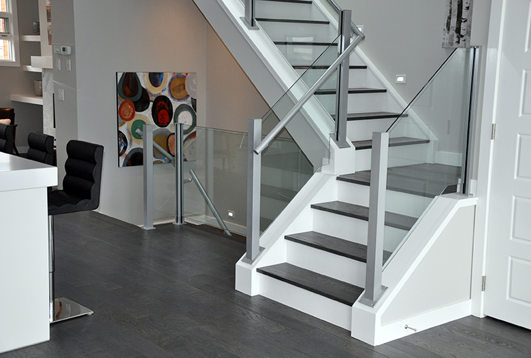 Attractive Contemporary Glass Stair Railings And Components