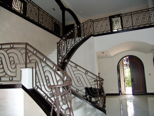 Contemporary Wrought Stair Railings
