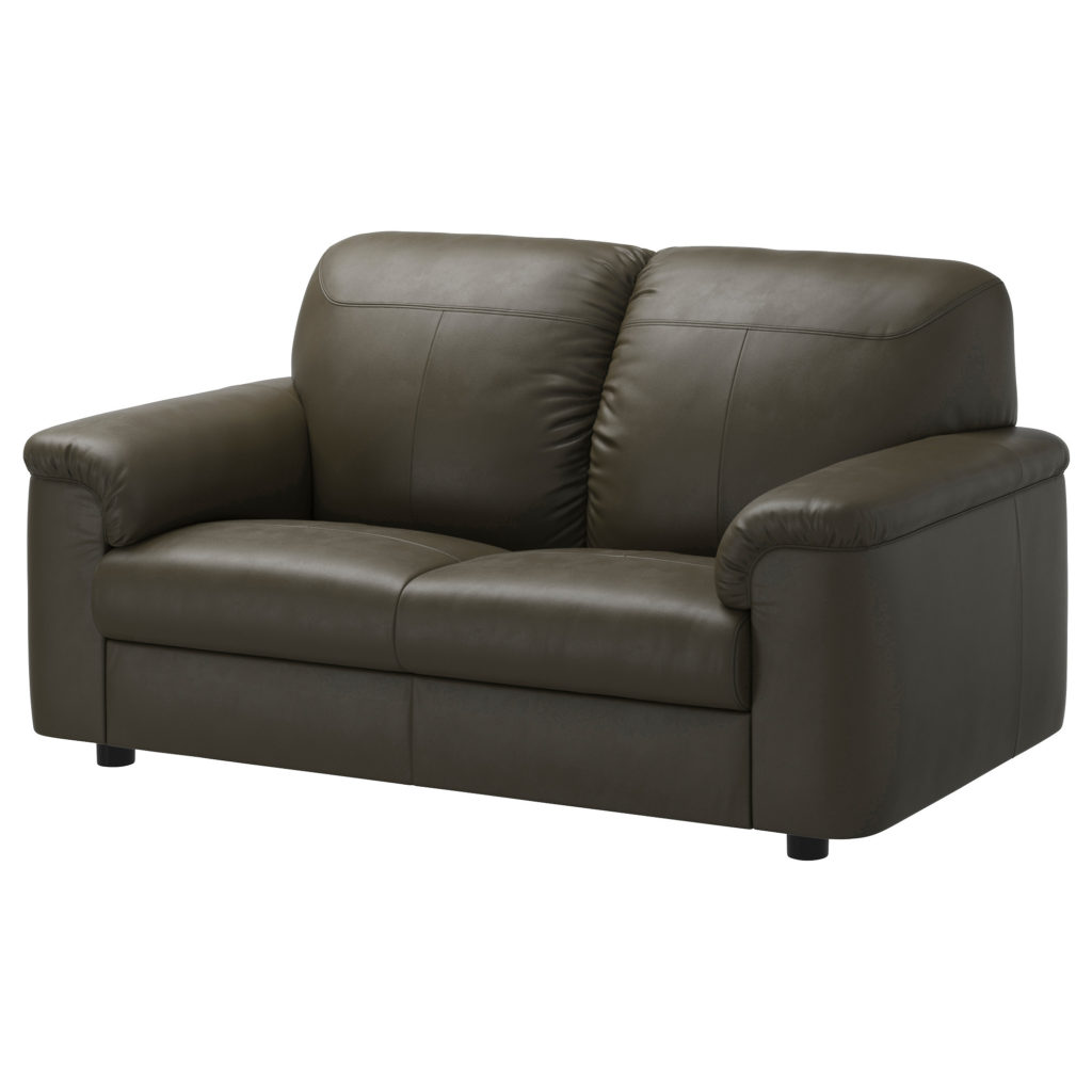 Small leather couch for small living room eva furniture for Canape cuir ikea convertible
