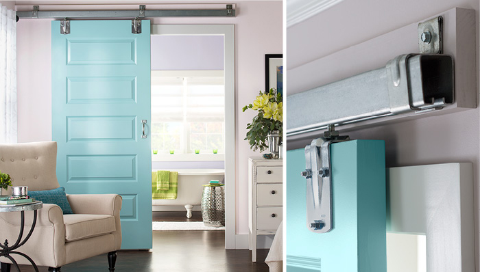 Interior Sliding Barn Door Blue Inspiration Ideas