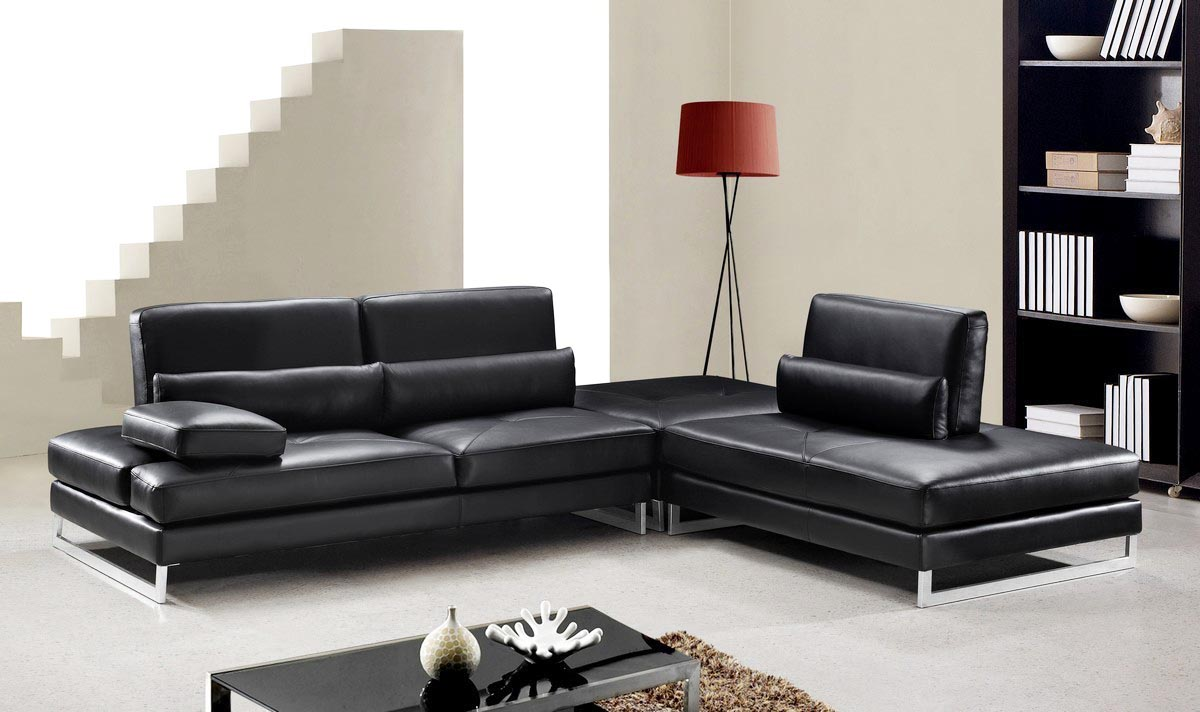 25 leather sectional sofa design ideas eva furniture. Black Bedroom Furniture Sets. Home Design Ideas