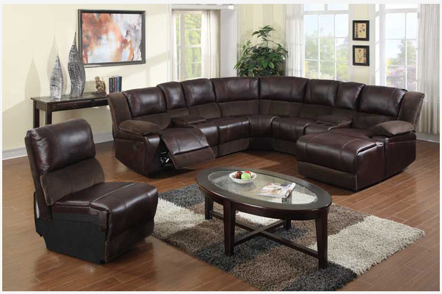 Leather Sectional Sofas with Round Glass Table : sectional leather sofa bed - Sectionals, Sofas & Couches