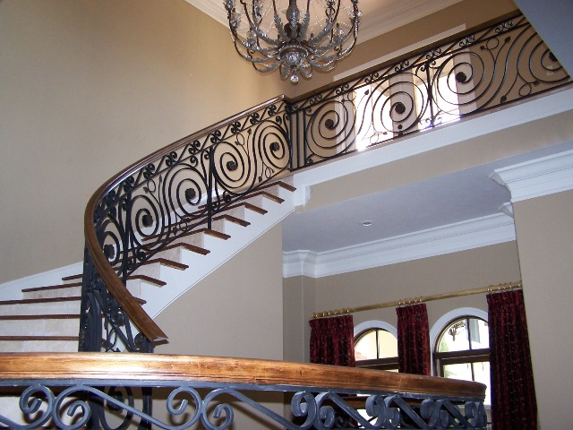 Luxurious Wrought Iron Stair Rail Design Ideas