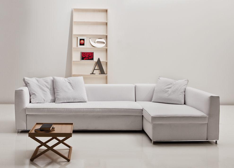 Modern Corner Sofa Bed With Storage For Apartement