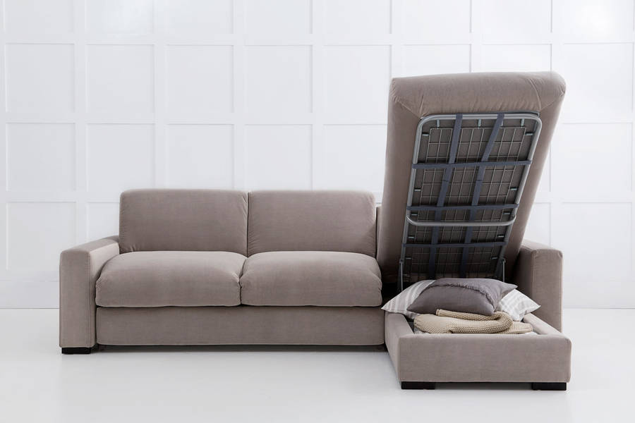 Modern Corner Sofa Bed with Storage | EVA Furniture