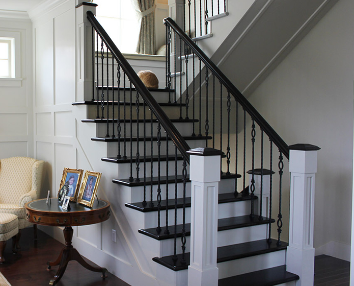 Enhance your home with stair railings styles eva furniture for Interior iron railing designs