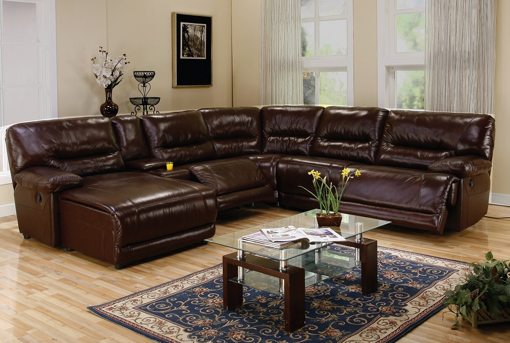 Recliner Leather Sectional Sofa Furniture Ideas : reclining leather sectional sofa - Sectionals, Sofas & Couches