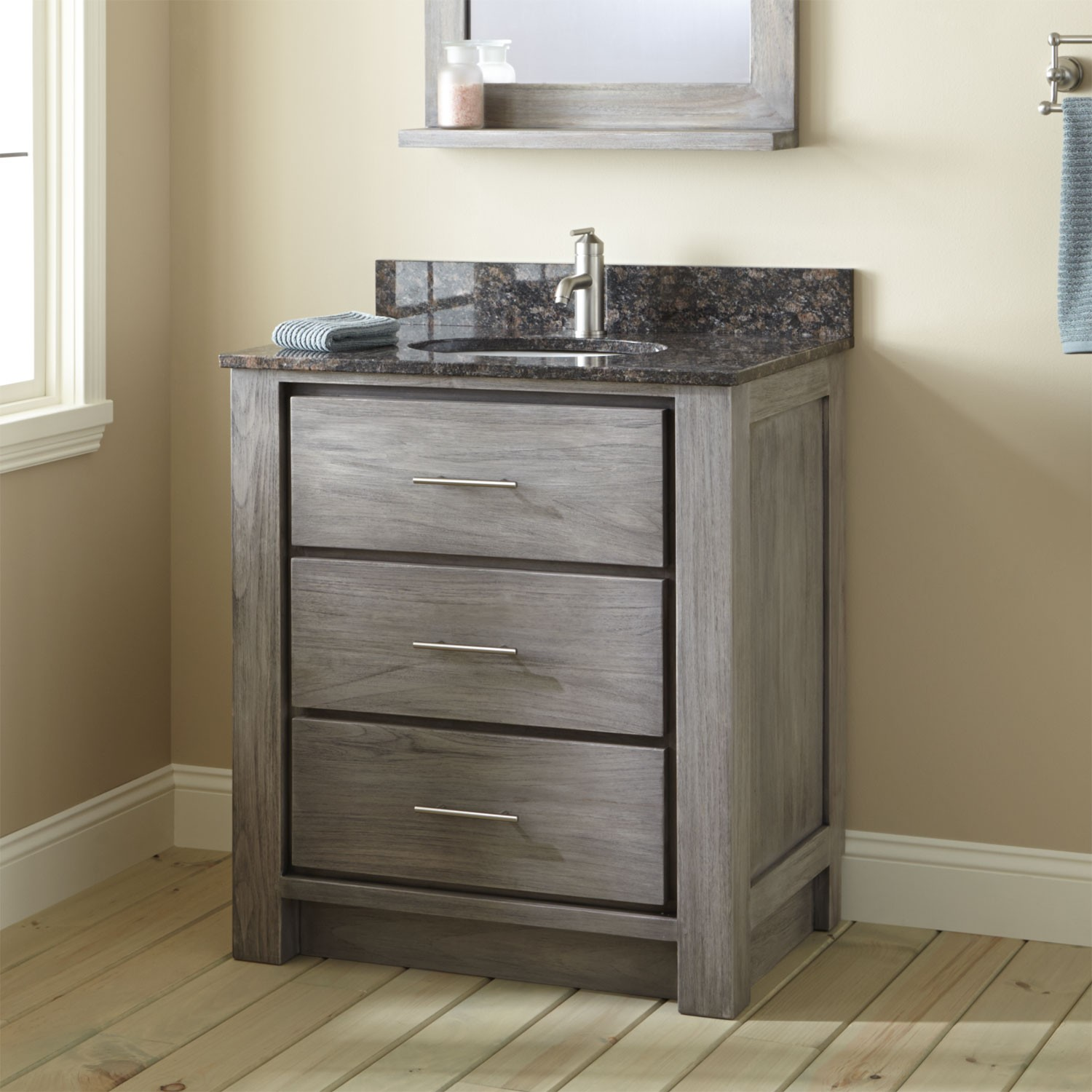 Rustic small bathroom vanities picture design for Bathroom cabinets small spaces