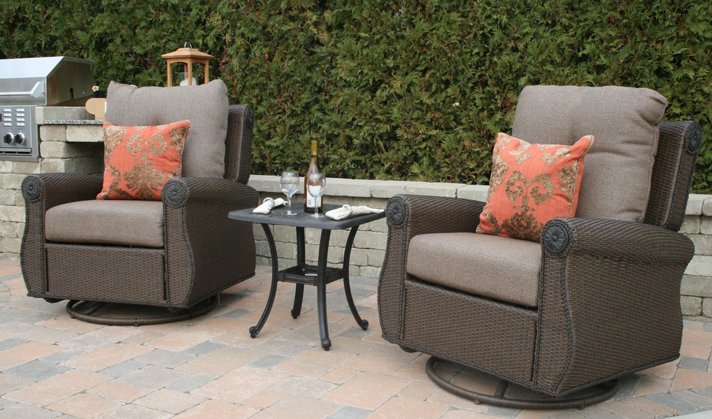 Small patio furniture eva furniture for Small metal patio set