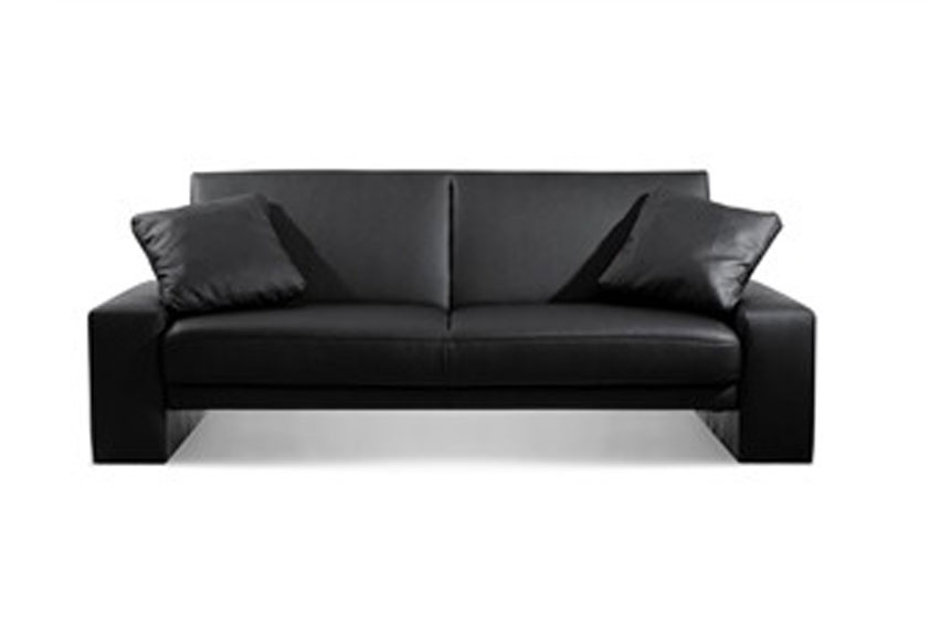Small Black Leather Couch Black Leather Sofa Bed