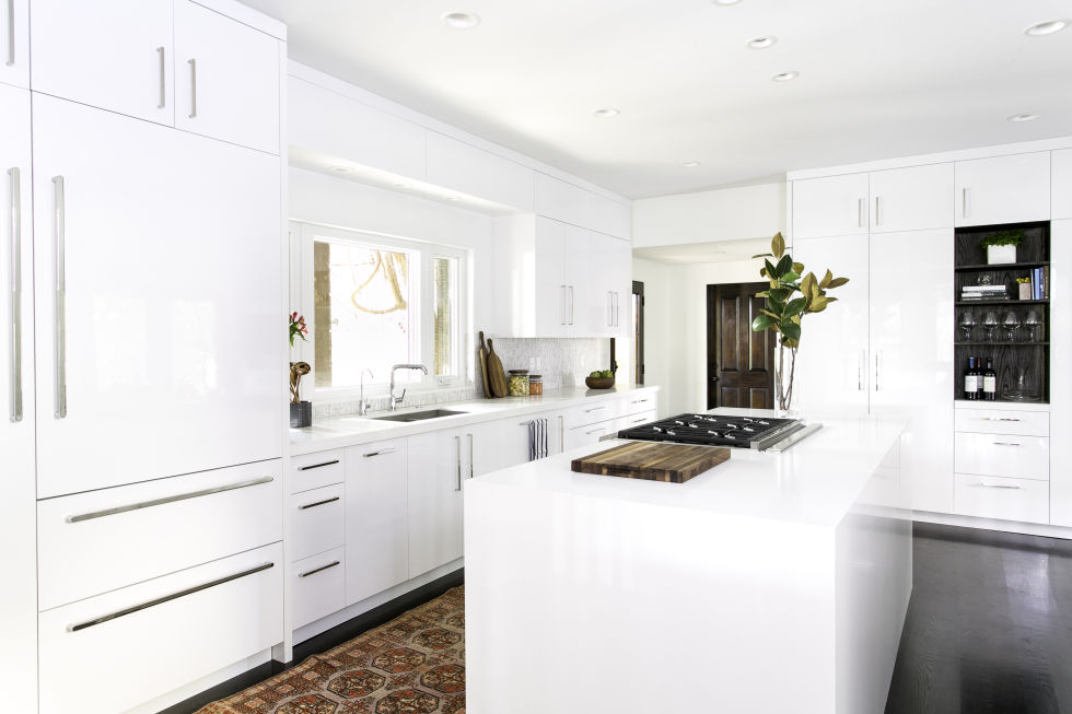 Small White Kitchen Design Ideas Part - 45: ... Small Kitchen With White Kitchen Cabinet Ideas; White Kitchen Cabinets  ...