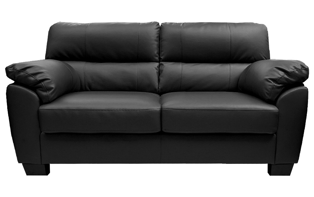 Small leather couch for small living room eva furniture for Living room with black leather furniture