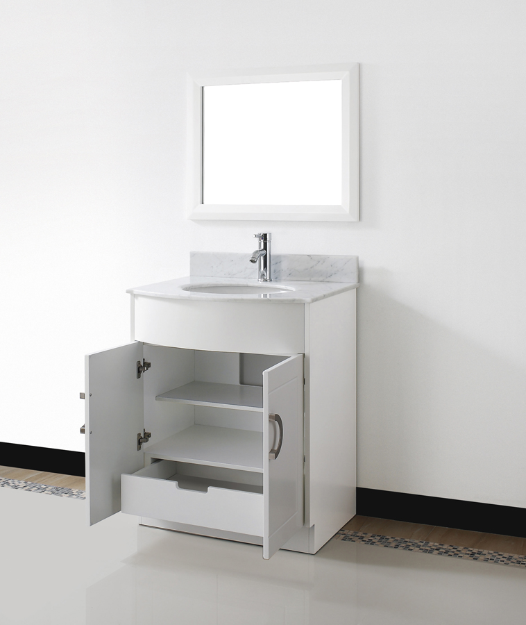 Small bathroom vanities for layouts lacking space eva for Low bathroom cabinet