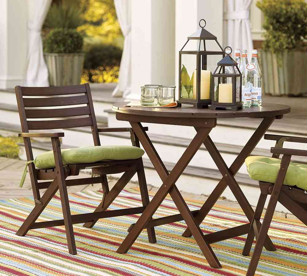 Balcony furniture small -  Wood Small Patio Furniture Sets