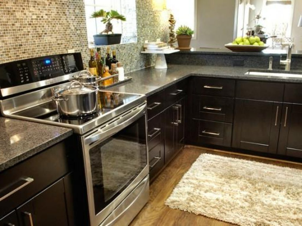 Best best kitchen color scheme with black countertop for Style kitchen countertops