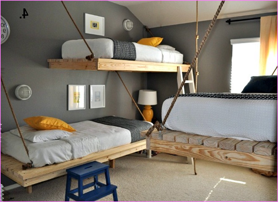 Diy bunk bed designs ideas for small rooms for Bed ideas for small spaces