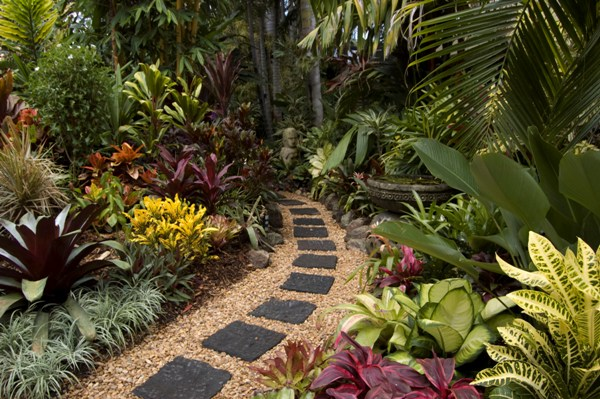 20 gardens tropical plants design ideas eva furniture for Back garden designs australia