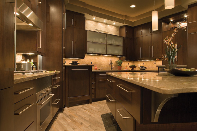granite-kitchen-countertops-with-backsplash-and-dark-brown-cabinets