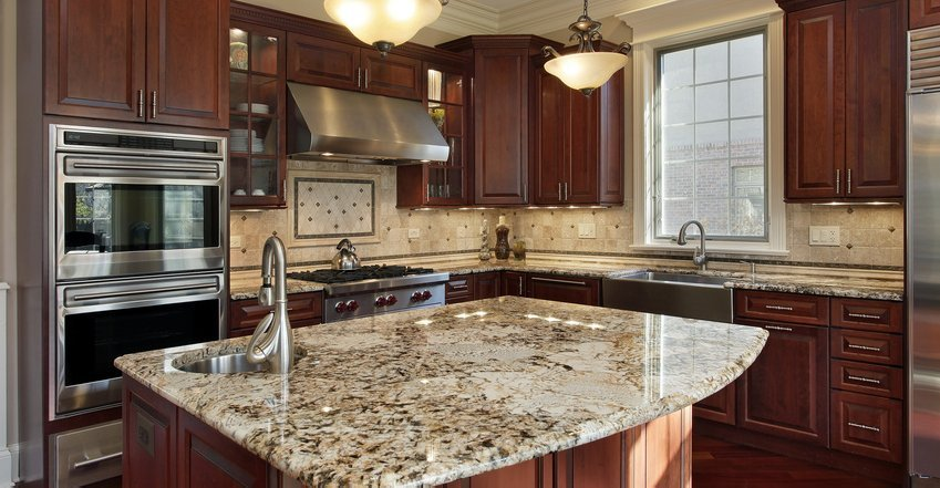 Kitchen granite countertops for Kitchen ideas with porcelain countertops
