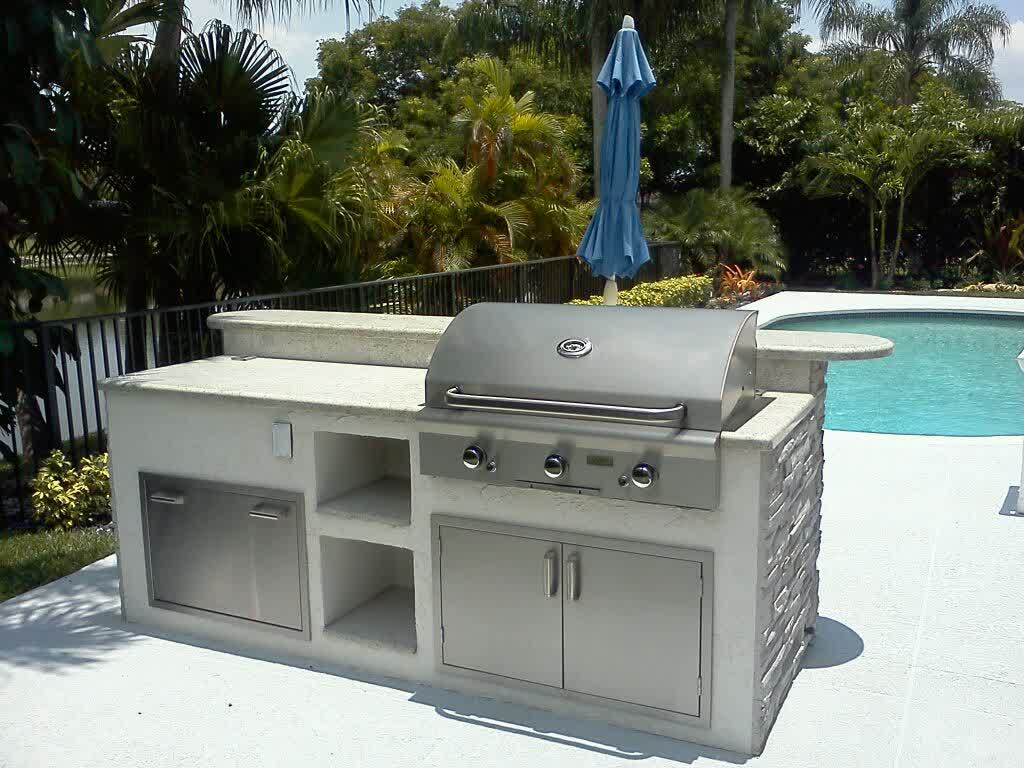 Outdoor stainless steel kitchen grills island for Stainless steel outdoor kitchen