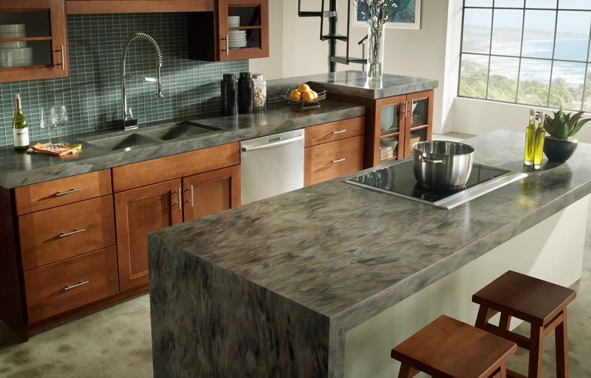image of solid surface kitchen countertops