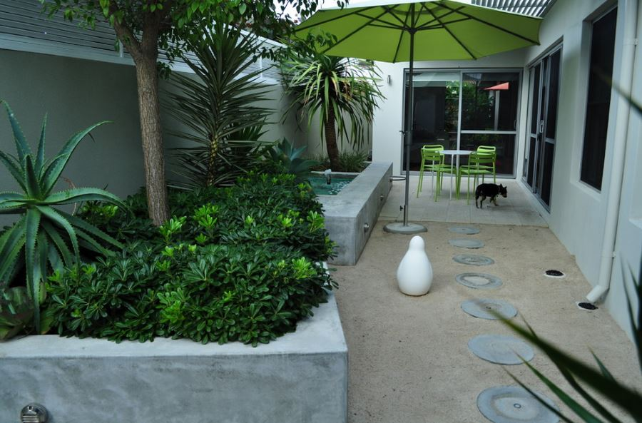 tropical-plants-and-lime-green-seating-on-a-perth-patio