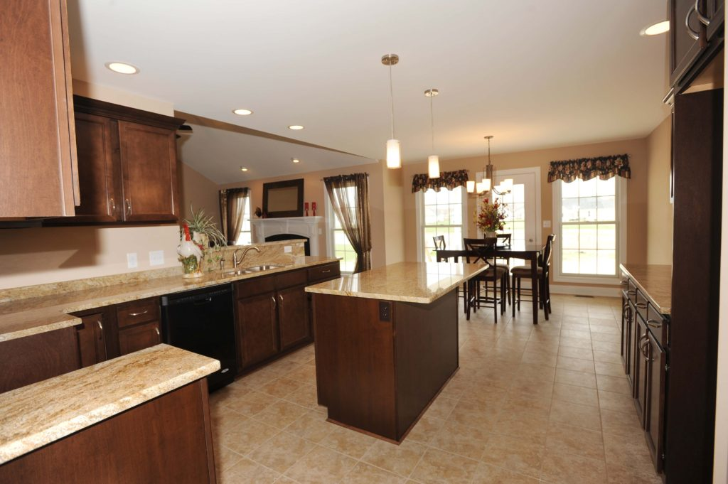 white-and-brown-granite-kitchen-countertops