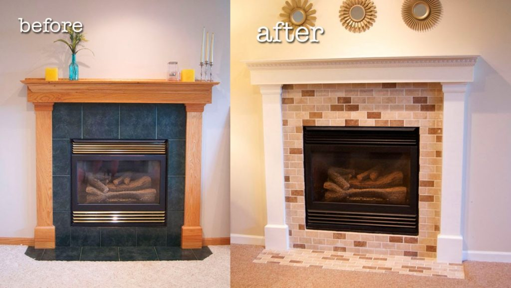 before-and-after-fireplace-makeover | EVA Furniture