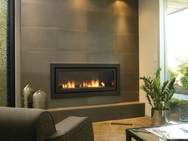 EVA Furniture - Amazing Contemporary Fireplace Black Backsplash Design Ideas