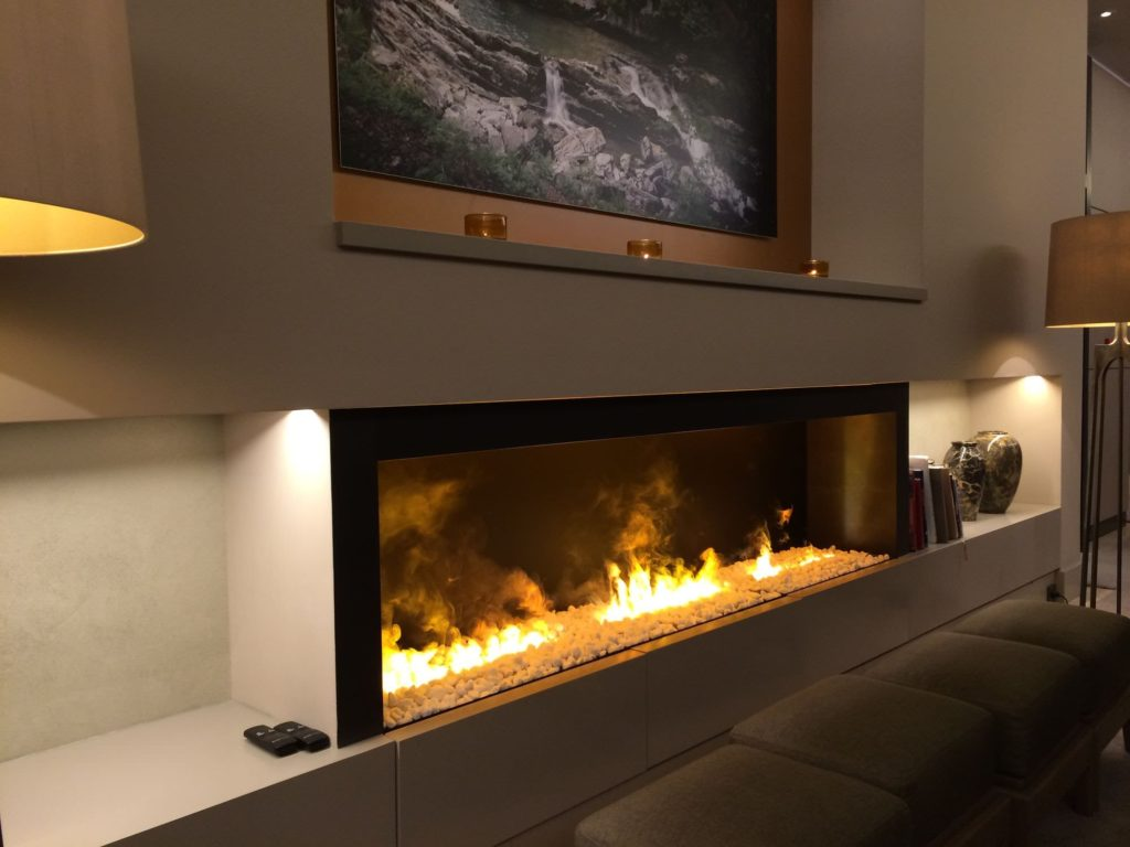 EVA Furniture - An electric fireplace is an electric heater that mimics a fireplace burning coal