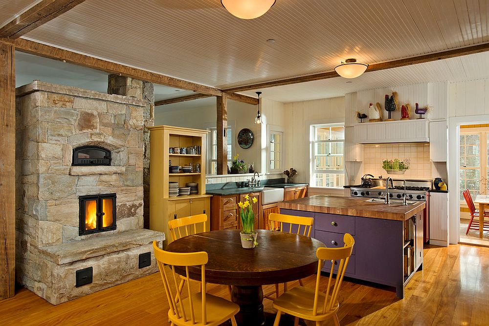 Kitchen Makeover with Remodeling Fireplace Ideas