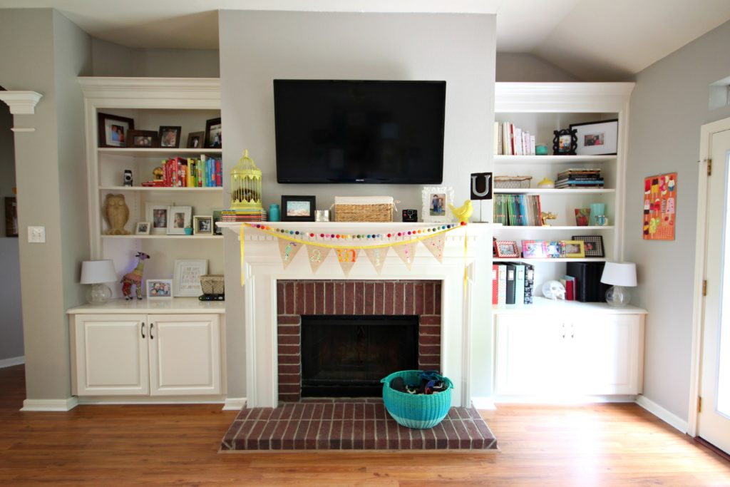 How to cover a brick fireplace with stone veneer - How to cover brick fireplace ...
