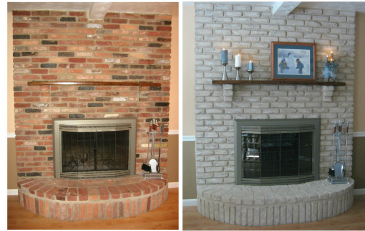 How To Update A Brick Fireplace On Budget