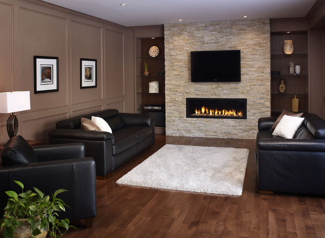 Modern fireplace wall design - Decorating ideas for fireplace walls ...