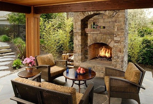 Outdoor Kitchen And Fireplace Ideas