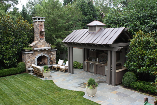 outdoor-kitchen-designs-with-fireplaces | EVA Furniture