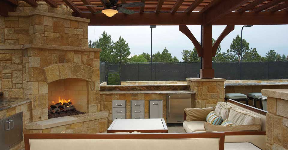 Kitchen Fireplace Design Ideas Part - 16: Outdoor-kitchen-fireplaces-designs