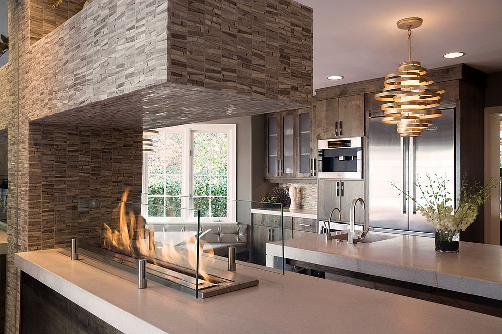 Kitchen makeover with remodeling fireplace ideas eva for Modern kitchen remodel ideas