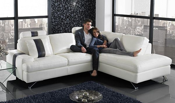 Superb Ancona Minimalist Corner Modern L Shaped Sofa