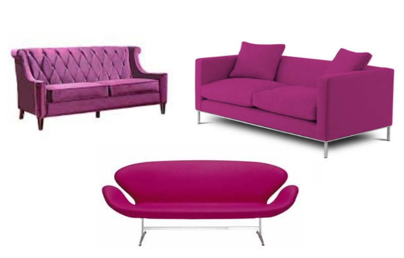 Beautiful Radiant Orchid Sofa for Living Room