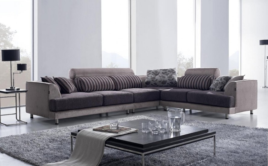 Contemporary l shaped sofa design ideas for Latest design of sofa set for drawing room