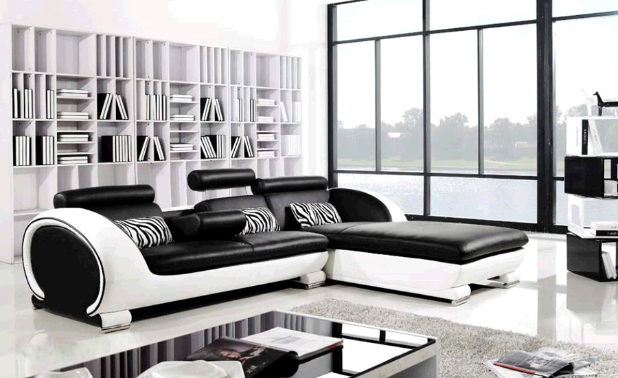 Modern Sofa Design Small L Shaped Sectional Sofa for Living Room