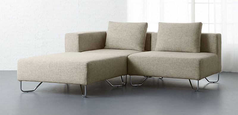 cb2 lotus 3piece sectional sofa