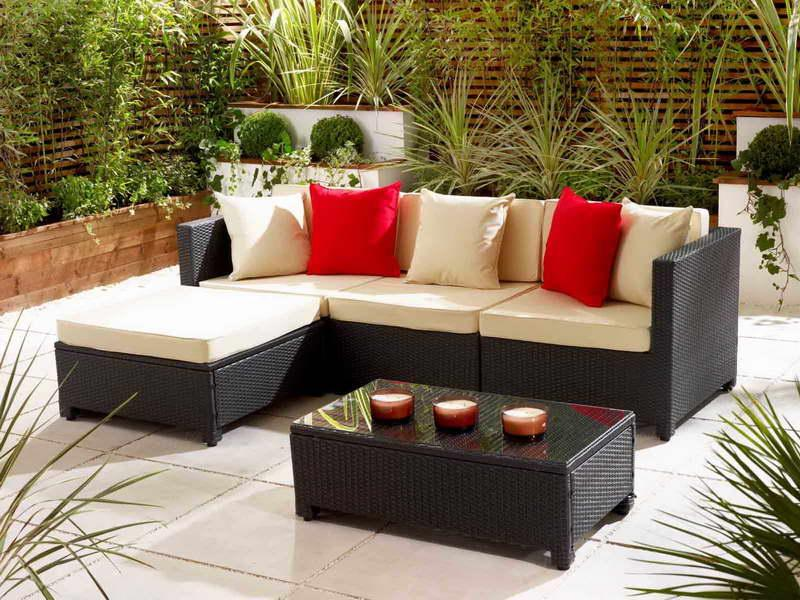Small patio furniture eva furniture - Small space garden design ideas set ...