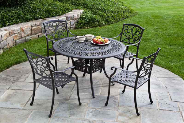 Metal Black And White Patio Furniture