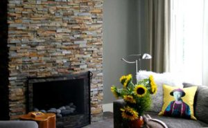 Refacing a Brick Fireplace with Stone Veneer
